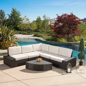 Thornton 6 Piece Sectional Seating Group With Sunbrella Cushions