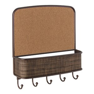 Twillo Wall Mount Corkboard Mail Center and Key Hook