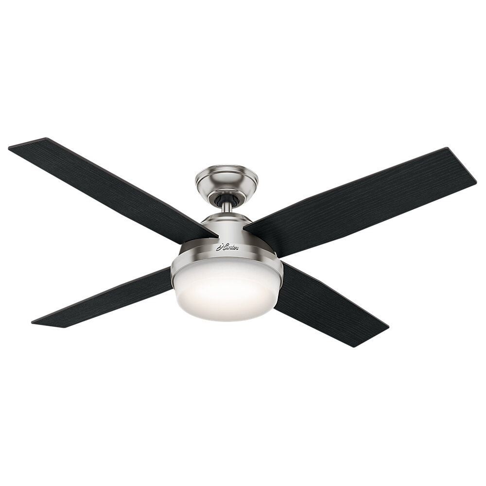 Hunter Fan 52 Dempsey 4 Blade Ceiling With Remote And Light Reviews Wayfair