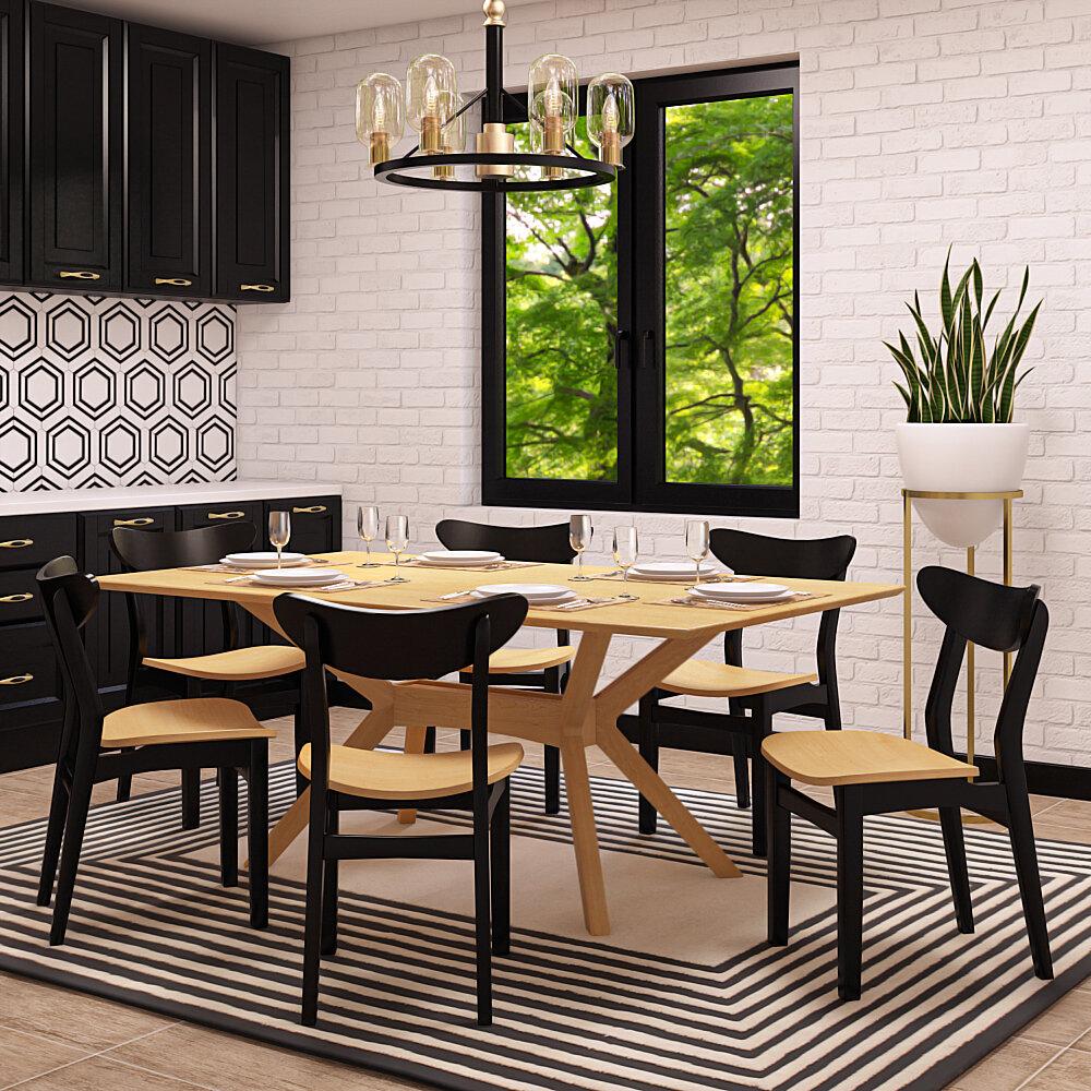 Corrigan Studio Anacortes 7 Pieces Solid Wood Dining Sets Wayfair
