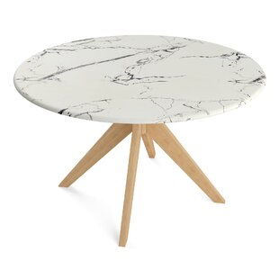 Grafton Faux Marble Dining Table Wrought Studio