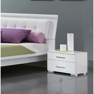 Ceylon 2 Drawer Nightstand by Orren Ellis