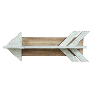 Union Rustic Lorusso Wood Arrow Shaped Sh..