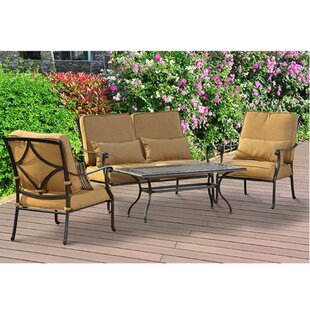 Canyon 4 Piece Deep Seating Group with Cushions by Sunjoy