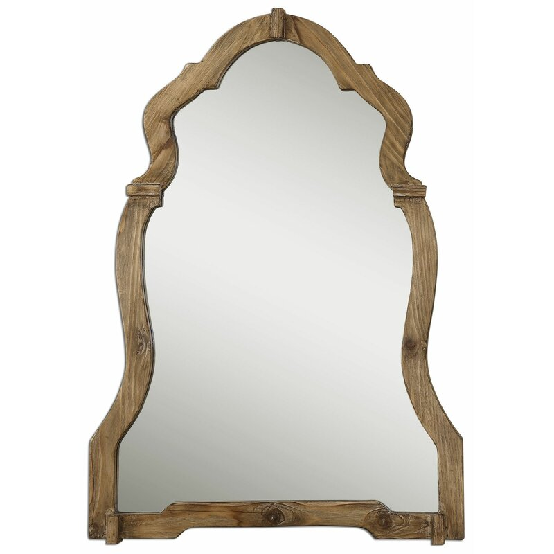 Walnut Wood Wall Mirror