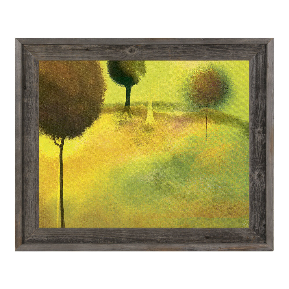 Click Wall Art \'Surreal Chartreuse Garden\' Framed Painting Print ...