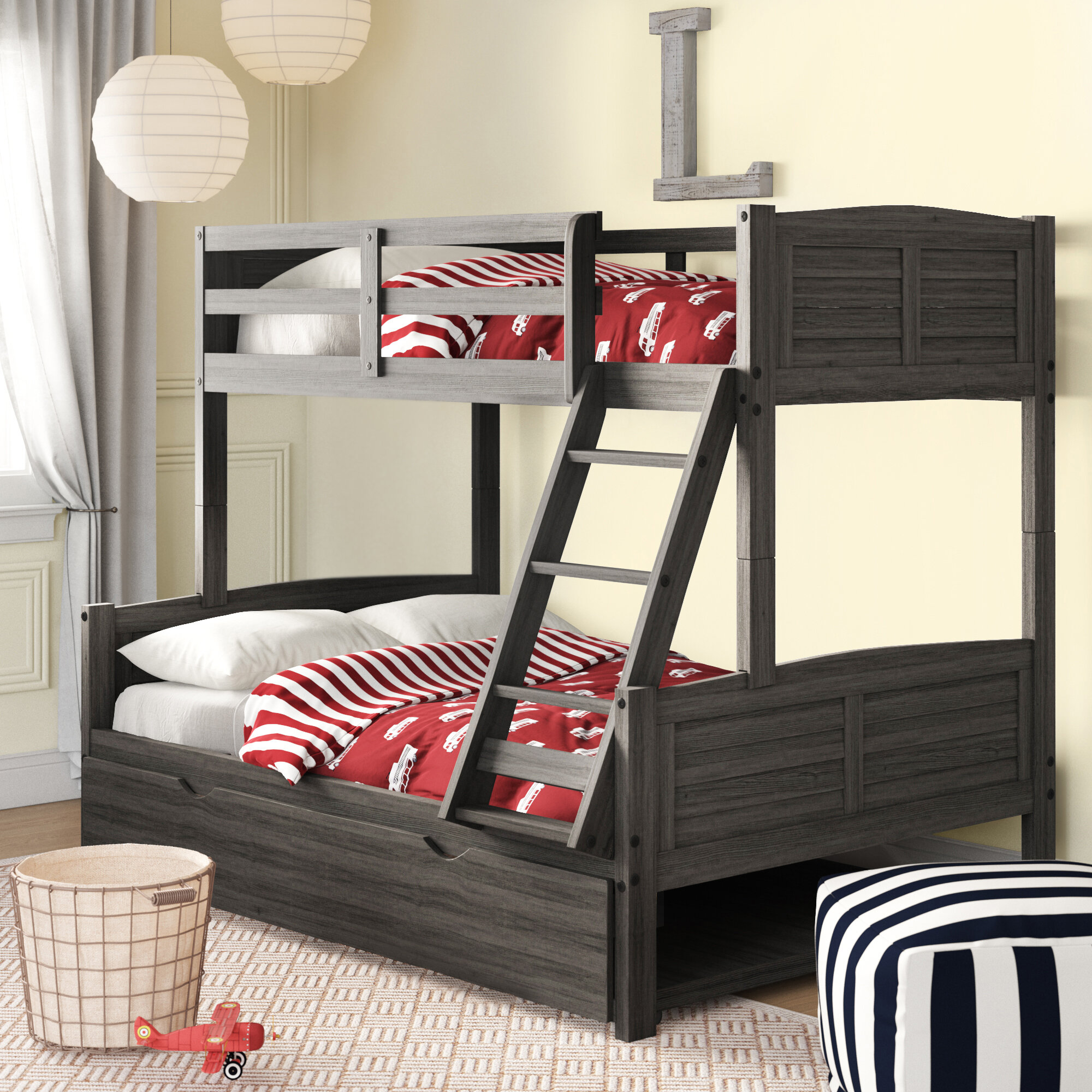 Picture of: Bladon Twin Over Full Bunk Bed With Twin Trundle Reviews