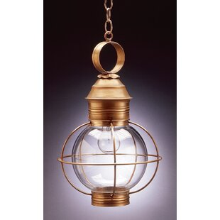 Gary 1-Light Outdoor Hanging Lantern by Longshore Tides