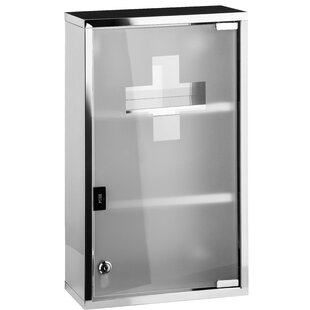 Celeste Stainless Steel 30cm X 51cm Surface Mount Medicine Cabinet By Belfry Bathroom