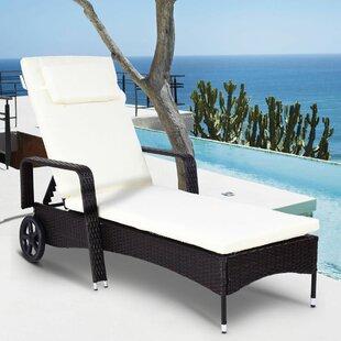 chaise longue avec roues pour exterieur