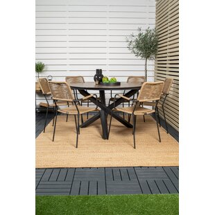 Drishya 6 Seater Dining Set By Sol 72 Outdoor