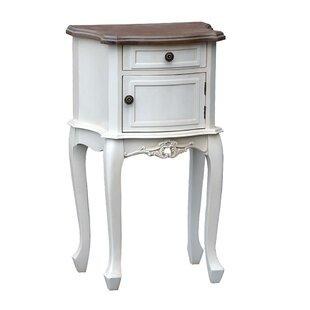 Saine 1 Drawer Bedside Table By Fleur De Lis Living