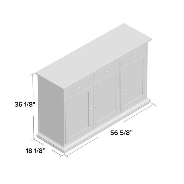 Three Posts Laux 56 57 Wide 3 Drawer Sideboard Reviews Wayfair
