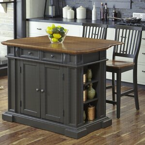 Collette Kitchen Island Set by August Grove