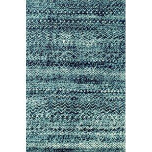 Inexpensive Hopkins Blue/Black Area Rug ByZipcode Design