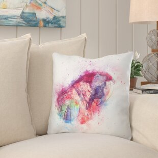 Forrest Parrot Throw Pillow by Bay Isle Home