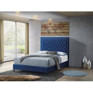 Leanne Tufted Upholstered Low Profile Platform Bed