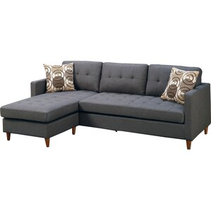 Mendosia Reversible Sectional  sc 1 st  AllModern : modern sectional with chaise - Sectionals, Sofas & Couches