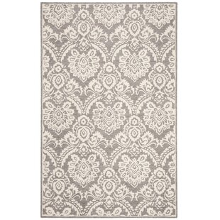 Deidamia Hand-Woven Wool Silver/Ivory Area Rug By Ophelia & Co.