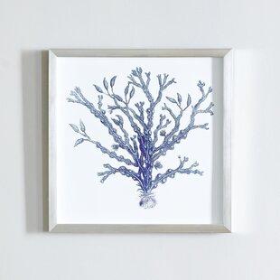 Indigo Coral Art Wayfair