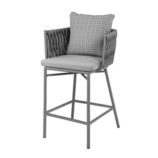 Bungalow Rose Horton Patio Bar Stool with..