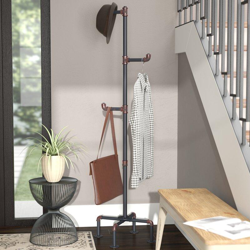 Trent Austin Design Melynda Metal Pipe Style Coat Rack Reviews Classy Pipe Coat Rack