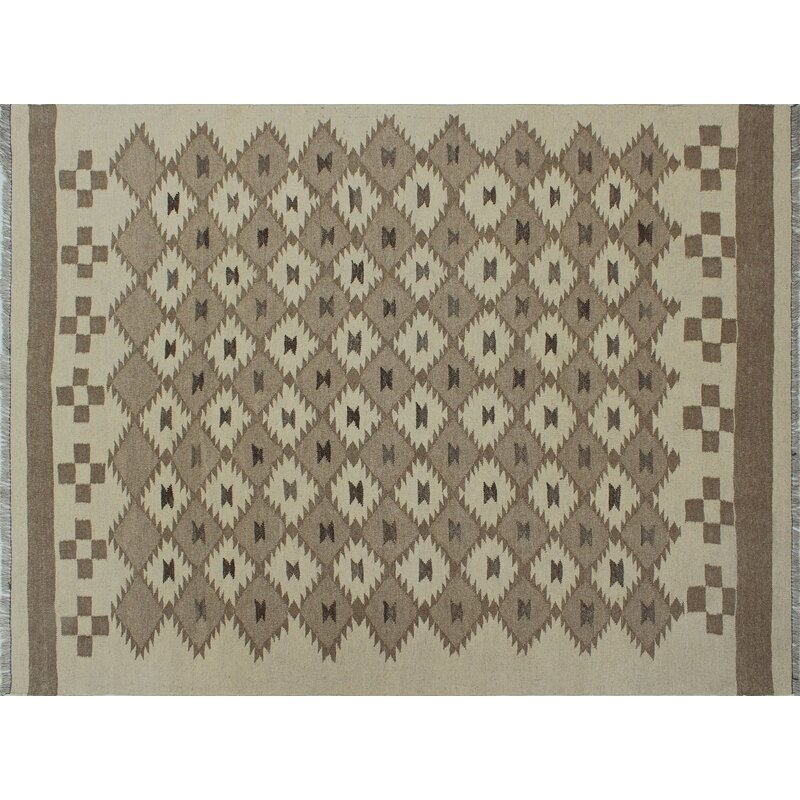 Foundry Select Benge Hand Knotted Wool Brown Beige Gray Area Rug Wayfair