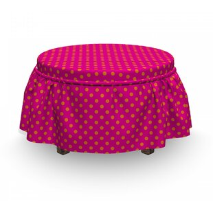 Polka Dots Ottoman Slipcover (Set Of 2) By East Urban Home