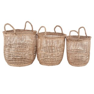 Seagrass 3 Piece Basket Set By Bloomsbury Market