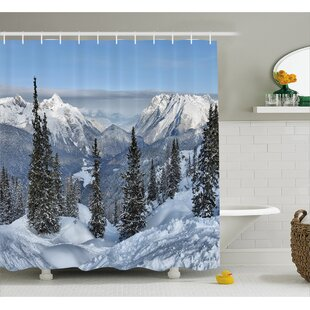 Winter Landscape Decor Single Shower Curtain