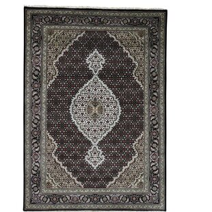 Comparison One-of-a-Kind Rudolph Mahi 250 Kpsi Hand-Knotted Black Area Rug By Astoria Grand