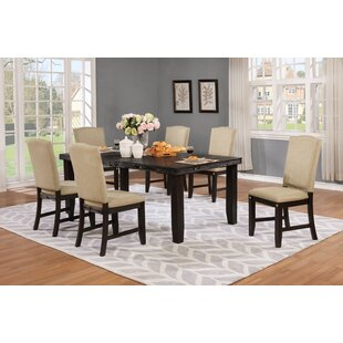 Dyess 7 Piece Solid Wood Dining Set by Darby Home Co