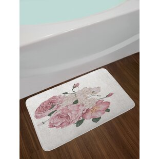 Old Roses Corsage on Grunge Bath Rug