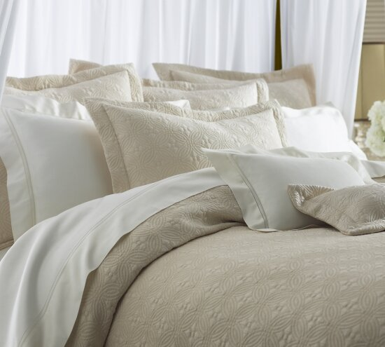 Lucia Egyptian Quality Cotton Coverlet Collection