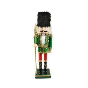 decorative wooden christmas nutcracker soldier with spear - Indoor Animated Christmas Figures