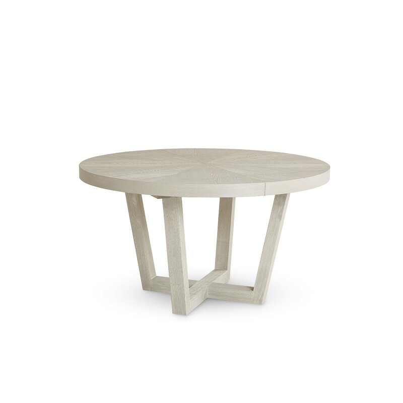 Brayden Studio Qunitero Extendable Pedestal Dining Table Reviews Wayfair
