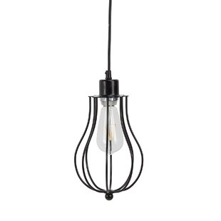 Reinhart Metal Frame 1-Light Bell Pendant by Williston Forge