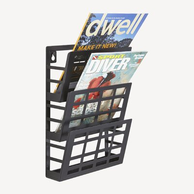Safco Products Company Grid 3 Pocket Magazine Rack