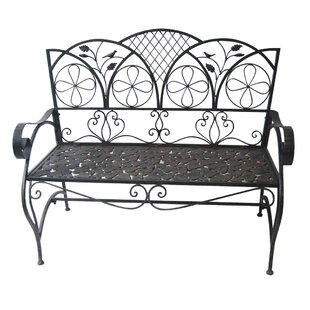 Ridenour Sunleaves Metal Garden Bench by August Grove #2