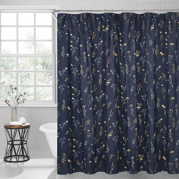 Gracie Oaks Vanissea 100 Cotton Floral Single Shower Curtain Reviews Wayfair