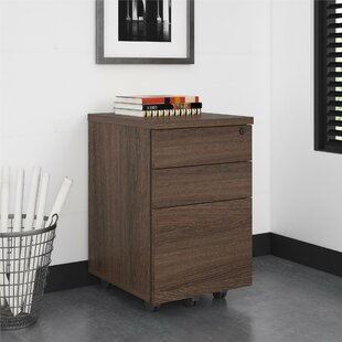 Holmes 3 Drawer Mobile Vertical Filing Cabinet by Comm Office
