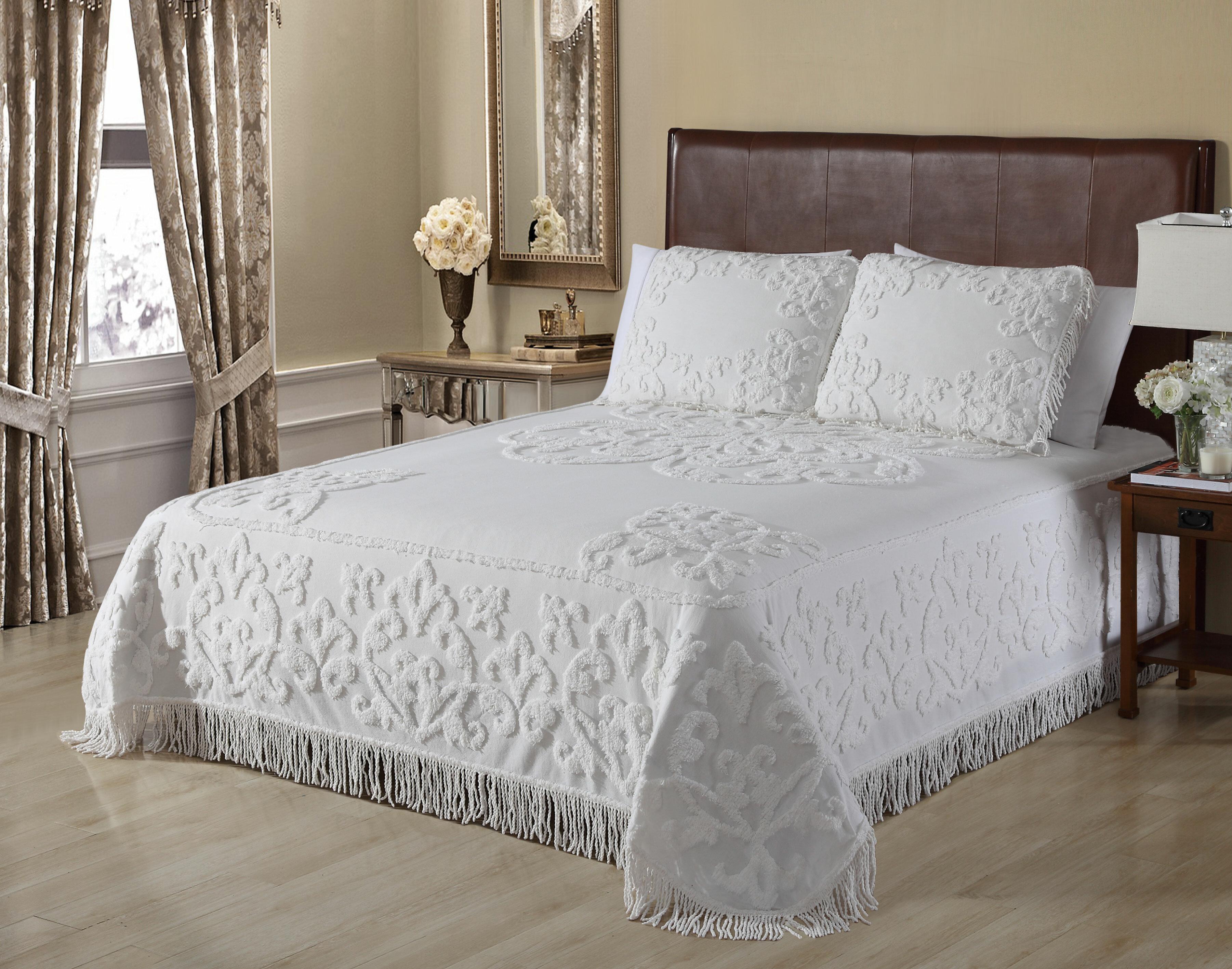 Chenille Bedspreads.Kylan Chenille Single Bedspread