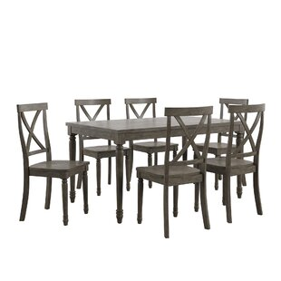 Butte Reclaimed Wood 7 Piece Dining Set by Alcott Hill Spacial Price