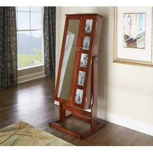 Remsen Free Standing Jewelry Armoire with Mirror