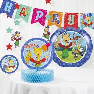 Llama Llama Birthday Paper/Plastic Disposable Decorations Kit