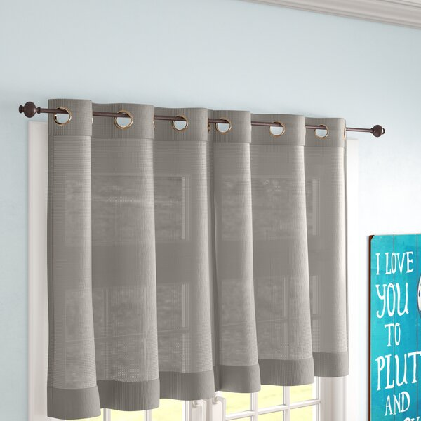 Kitchen Cafe Curtain Cotton linen Check Curtains Country Cottage Window Panel
