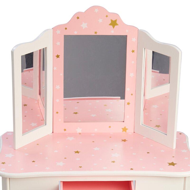 Teamson Kids 2 Piece Gisele Vanity Set with Mirror & Reviews | Wayfair