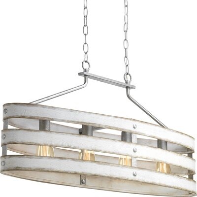 17 Stories Emaria 4 Light Drum Pendant Finish Graphite Shade Color Weathered Gray