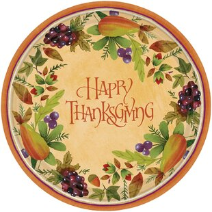 Autumn Thanksgiving Medley Paper Dessert Plate (Set of 8)