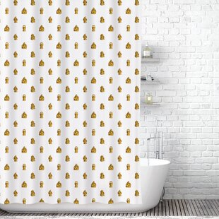 Golden Buddhas Shower Curtain Liner